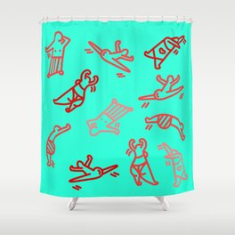 Dance In Your (Blue) Pants Shower Curtain