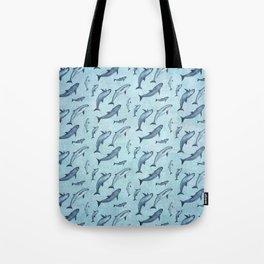 Pattern: Sea of Vaquita ~ (Watercolor Art, Copyright 2015) Tote Bag