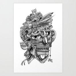 Fright 3 Art Print