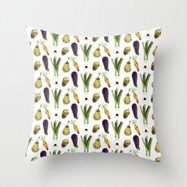 Veggie Doggos Throw Pillow