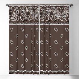 Classic Coffee Brown Bandana Blackout Curtain