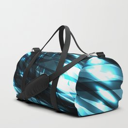 glowing cosmic azure background of cobalt metal lines. For registration of paper or banners. Duffle Bag