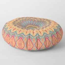Jewel Mandala - Mandala Art Floor Pillow