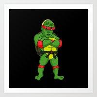 ninja turtle Art Prints featuring Teenage Putin Ninja Turtle by Chris Piascik