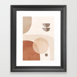 Abstract Minimal Shapes 16 Framed Art Print