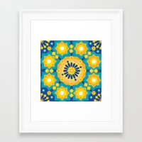 sacred geometry Framed Art Prints featuring Sacred Geometry by Tashi Delek