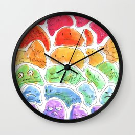 rpg slime rainbow Wall Clock