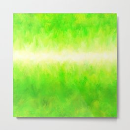 Yellow Green Lime Grass Metal Print