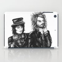 goth iPad Cases featuring Goth Detectives by Grace Mutton