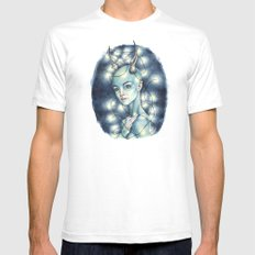 Devil White Mens Fitted Tee SMALL