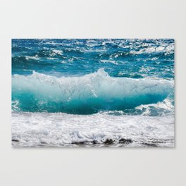 Summer Ocean Waves Canvas Print