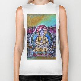 Buddha In The Garden Biker Tank