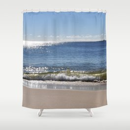 Beach just before sunset Shower Curtain