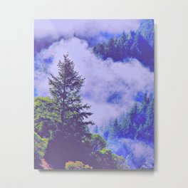 Pure Purple Mists of Northern California Metal Print
