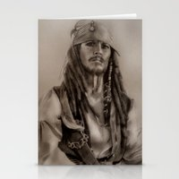 jack sparrow Stationery Cards featuring Captain Jack Sparrow by Svartrev