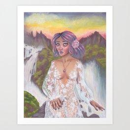 Cascade Reine Art Print