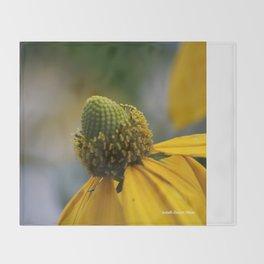 Yellow flower Throw Blanket