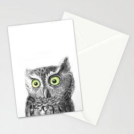 Owl portrait Stationery Cards