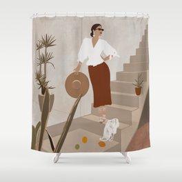 African Spring Summer Shower Curtain