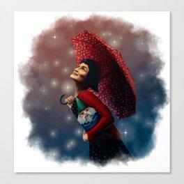Film Tarot - Amélie as The Fool Canvas Print