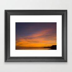 Jurassic Coast Skies Framed Art Print