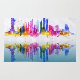 Color New York Skyline 02 Rug