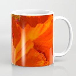 Tropical Saffron Flamingo Orange Floral Fantasy Painting Coffee Mug