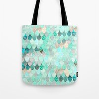 Tote Bags featuring SUMMER MERMAID by Monika Strigel