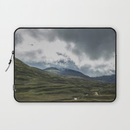Scottish Mountains with Rain Clouds Laptop Sleeve