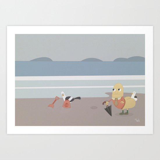 Sir Richard Rear Beach Art Art Print