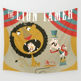 Lion Tamer Wall Tapestry