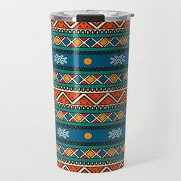Ethnic multicolored pattern Travel Mug