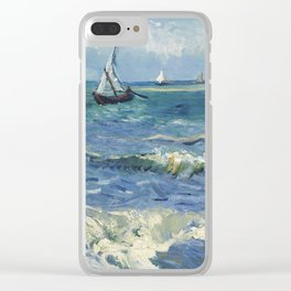 Vincent Van Gogh - Seascape at Saintes-Maries, 1888 Clear iPhone Case