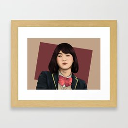BTS SUGA FEMALE FANART Framed Art Print