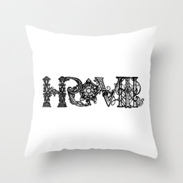 Henry VIII Royal Initials  Throw Pillow