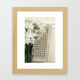 Winter Narcissus & Vintage French Chair Framed Art Print