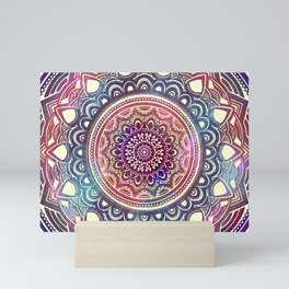 MANDALA MULTI COLOR STARRY GALAXY Mini Art Print
