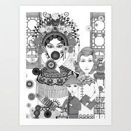 Chinese People Art Print