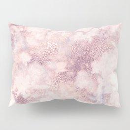 Elegant rose faux gold pink gray luxury marble pattern Pillow Sham