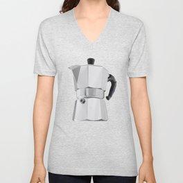 Coffee Moka Pot polygon art Unisex V-Neck