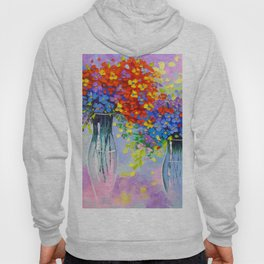 Music of multi-colored flowers Hoody