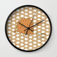 cookie Wall Clocks featuring Cookie by EnelBosqueEncantado