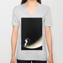 Moon and cats Unisex V-Neck