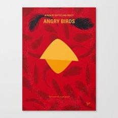 No658 My Angry Birds Movie minimal movie poster Canvas Print