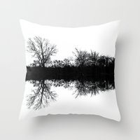 mirror Throw Pillows featuring Mirror by Mark Alder