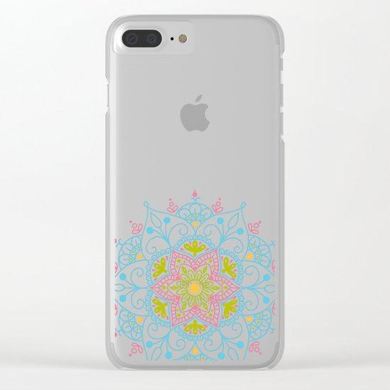 Mandala_ Spring Blue Sky Clear iPhone Case