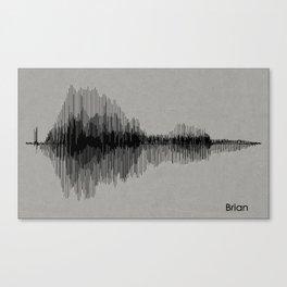 Brian - Name Print Canvas Print