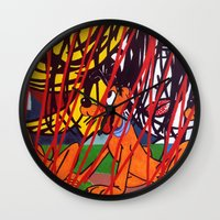 lichtenstein Wall Clocks featuring LICHTENSTEIN/PLUTO by Brandon Neher