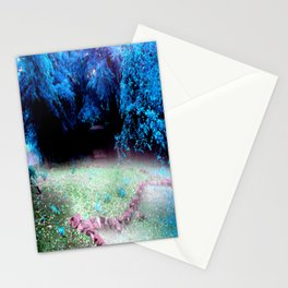 Enchanted Park Turquoise Stationery Cards