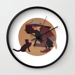 cole cat Wall Clock